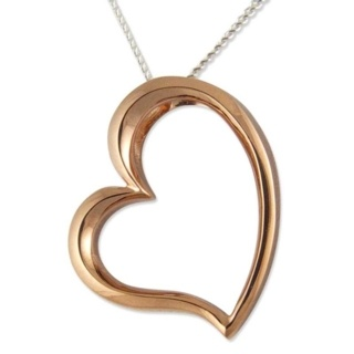 Demure Rose Gold Silver Heart