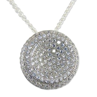 Secret Silver Pave Crystal Necklace