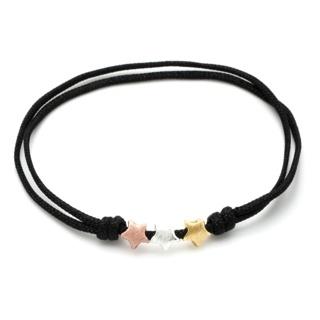 Adjustable Silver Gold & Rose Gold Star Bracelet
