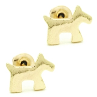 Gold Dog stud Earrings