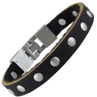 Dakota Black Leather Bracelet