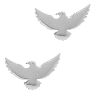 Polished 925 Flying Bird Earrings