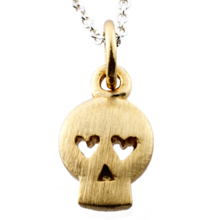Gold Skull Charm Necklace
