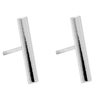 Small Silver Plated Bar Earrings