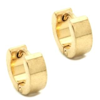 Midi Gold Stainless Steel Huggie Earrings