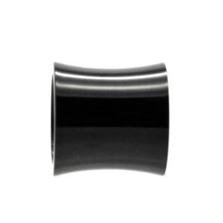Black Polished Concave Titanium Bead
