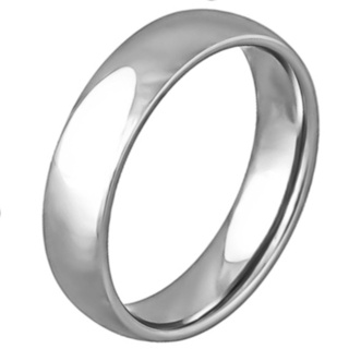 Smooth High Polished 6mm Stainless Ring