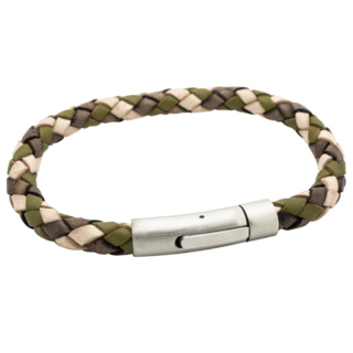 Woven Camouflage Leather Bracelet