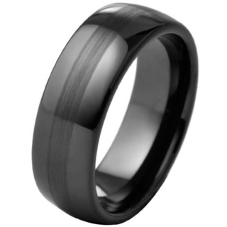 Outlaw Black Ceramic Ring
