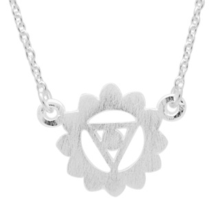 Silver Throat Chakra Necklace