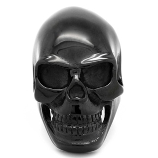 Chunky Black Skull Ring
