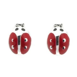 Children's Silver Ladybird Stud Earrings