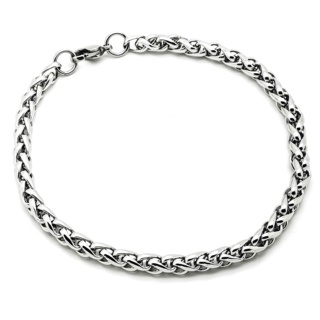 Stainless Steel Wheat Chain 4mm Bracelet