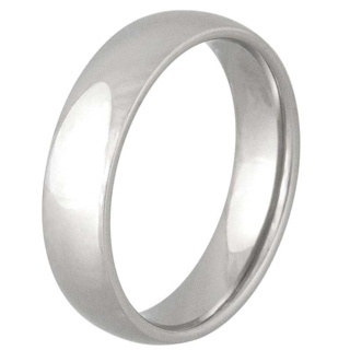 Smooth 6mm Stainless Ring