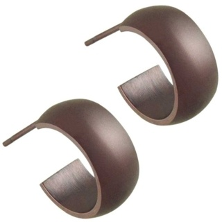 Steel Coffee Hoop Earrings