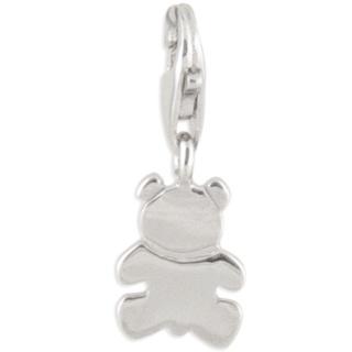 Teddy Bear Silver Charm