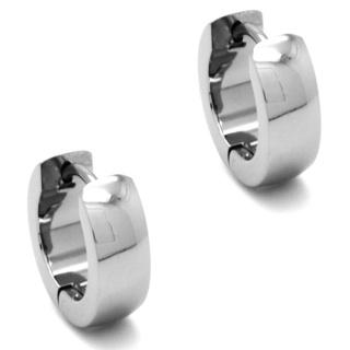 Stainless Steel Dome Huggie Earrings