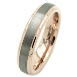 Tungsten Carbide & Rose Gold Ring