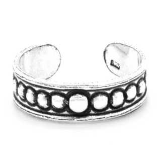 Oxidised Tribal silver Toe Ring