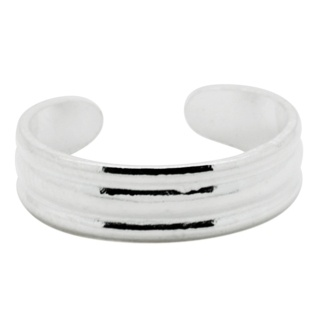 Silver Banded Toe Ring