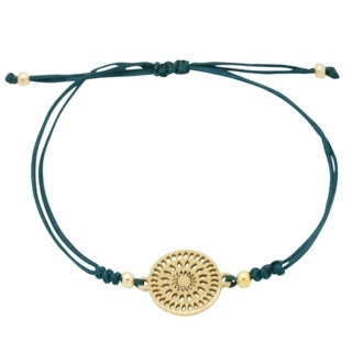 Gold Plated Teal Charm Bracelet