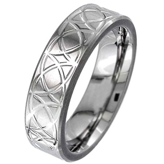 Flat Profile Titanium Ring with a Celtic Design