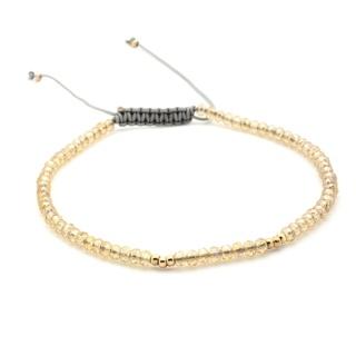 Handmade Yellow Topaz Crystal Adjustable Bracelet