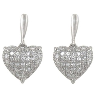 Innocence Silver Pave Crystal Earrings