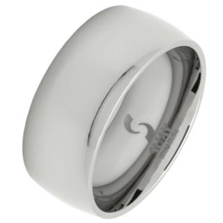 Lust 10 Polished Titanium Ring