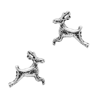Silver 925 Stag Stud Earrings