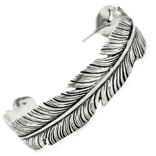 Stainless Steel Feather Bangle