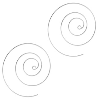Silver Plated Circular Spiral Earrings