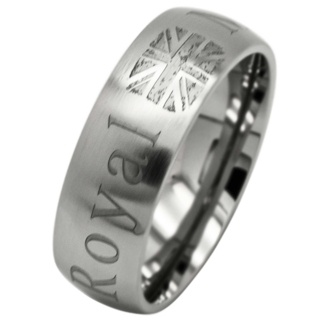 Matt Titanium Royal Marines Ring