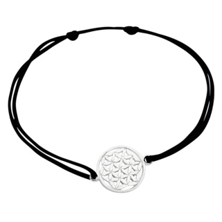 Silver Flower Of Life Adjustable Bracelet