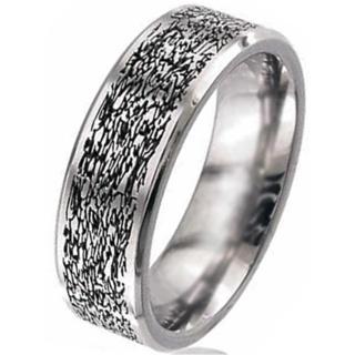 Flat Profile Titanium Wedding Ring