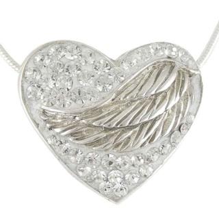 Silver Winged Crystal Embrace