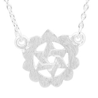 Silver Heart Chakra Necklace