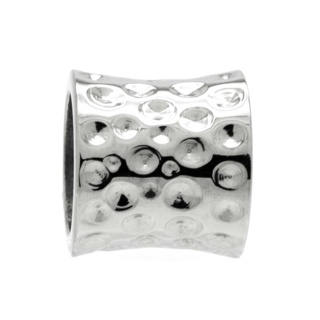 High Polished Indented Concave Titanium Bead