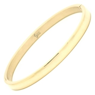 Polished Gold Stainless Steel Bangle