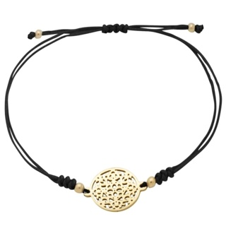 Gold Plated Black Charm Bracelet