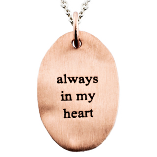 Always in my Heart Rose Gold Charm Necklace