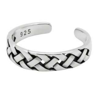 925 Woven Silver Toe ring