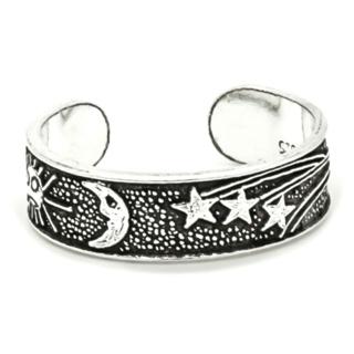 925 Silver Moon & Stars Toe Ring