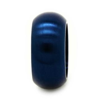 Satin Blue Titanium Bead