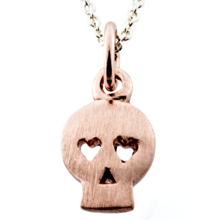 Rose Gold Skull Charm Necklace