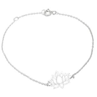 925 Silver Lotus Bracelet