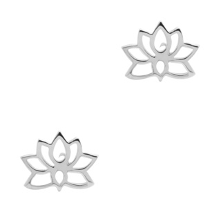 925 Silver Lotus Stud Earrings