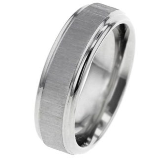 Titanium Wedding Ring with Cross Brushed Finish