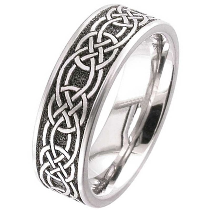 Titanium Celtic Knot Wedding Ring