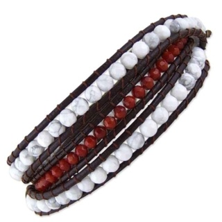 Brasilia Leather Wraparound Bracelet